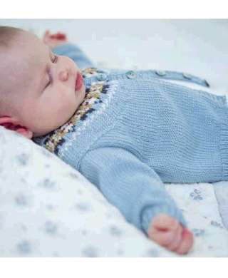 Fair Isle Infant Knitting Patterns] Free Free Fair Isle Baby ...
