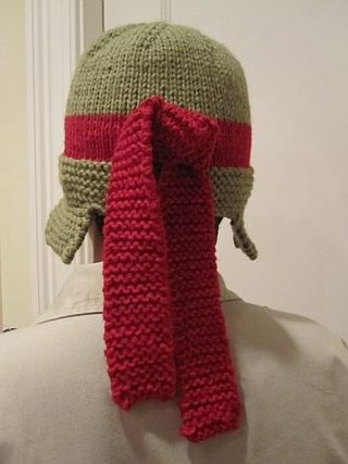 Ninja Turtle Hat Back View
