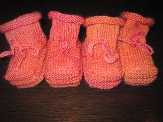 knitting baby booties tutorial
