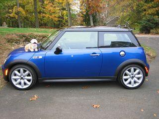 Blue Mini Cooper 2005