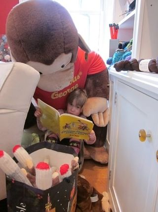 A reading with Curious George
