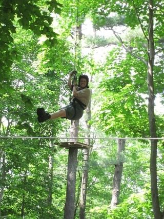 Jennifer on Zip Line