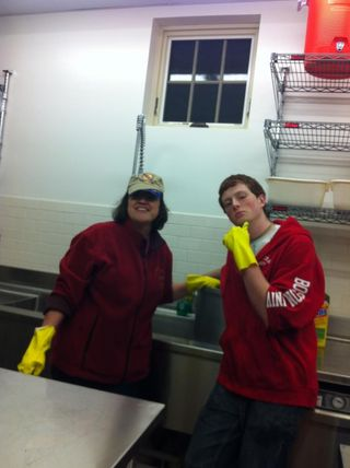 BSA Pot Scrubbing - Ms. Jackson and GV