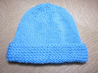 2f7ff39b1fc The fourth and final hat is the Basic Newborn Hat - Garter Stitch Brim.