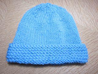 The fourth and final hat is the Basic Newborn Hat - Garter Stitch Brim. 0023c2a98f7