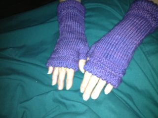 Joyce's Fingerless Mitts