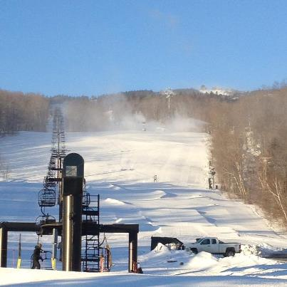 Mount Snow Sunday morning before the lifts open
