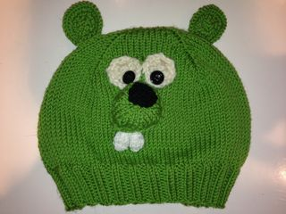 Beaver Hat Lime Green