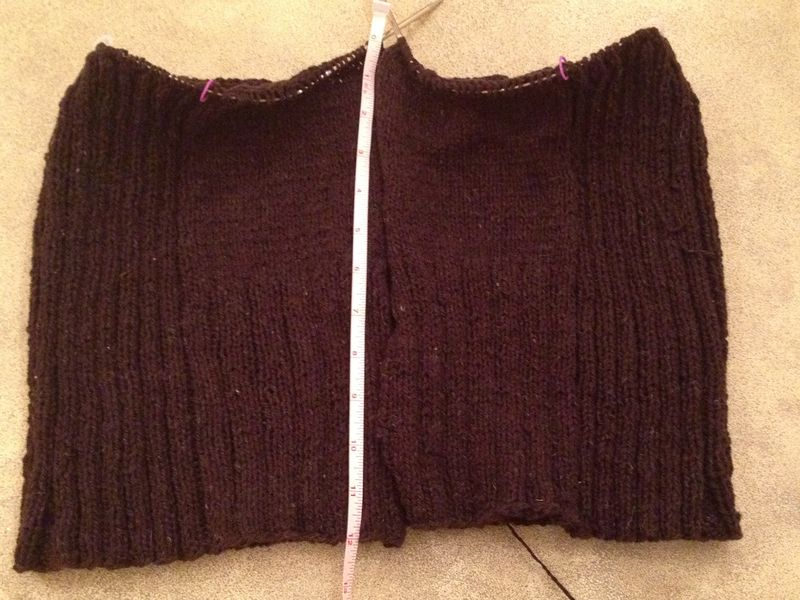 Ribby Cardi 12 inches