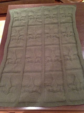 BSA Fleur-de-Lis Blanket before Blocking 2