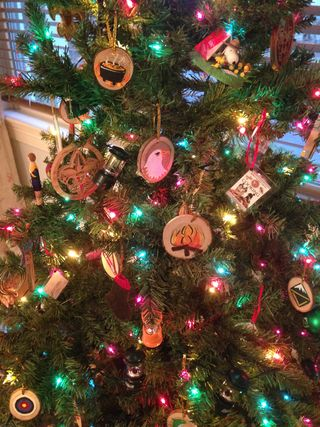 heres my scout tree at home i have five types of ornaments - Boy Scout Christmas Trees