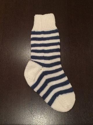 Denim blue stocking