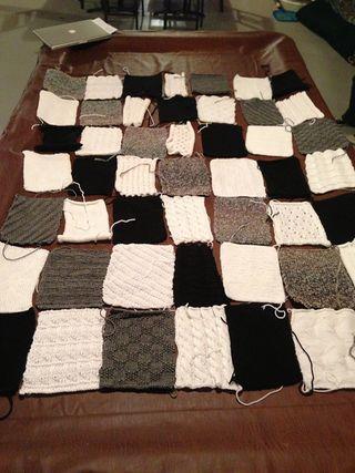 Black, Gray and White