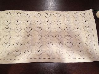 Heart lace baby blanket