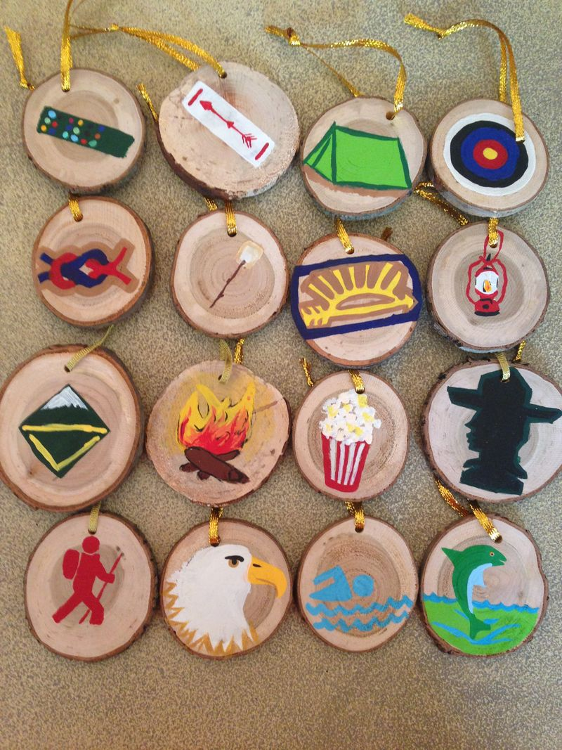 Handpainted Boy Scout ornaments