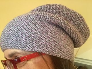Purple gray slouch hat