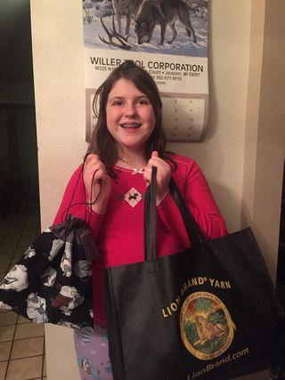 Grace's knitting bag