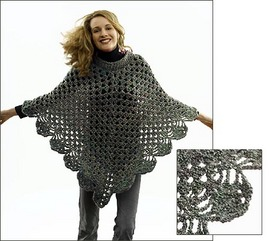 The Poncho Knitting Pattern | Red Heart
