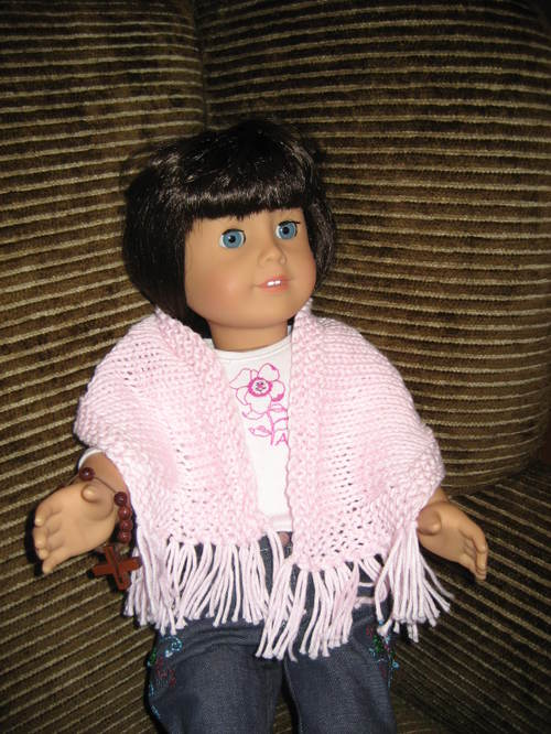 American Girl Doll Simple Prayer Shawl - Horizontal