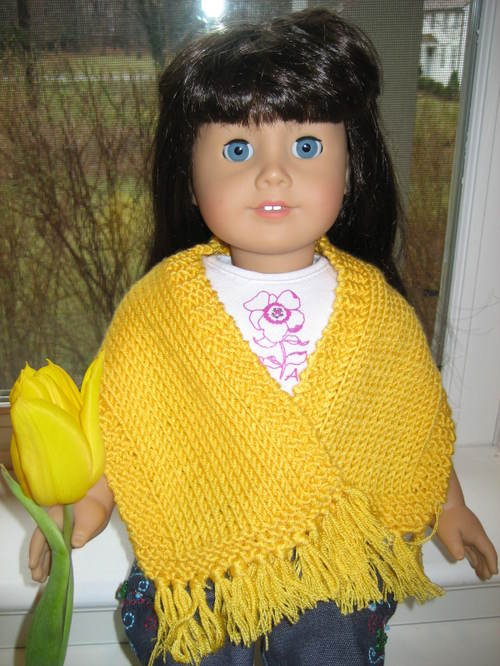 American Girl Doll Simple Prayer Shawl – Vertical