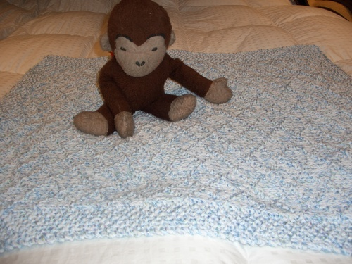 Oh So Soft Blanket with Criss Cross Pattern