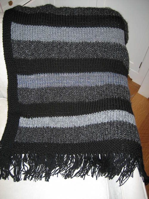 Free Knitting Patterns Striped Prayer Shawl