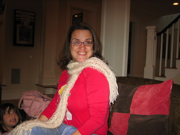 Winter White Garter Stitch Scarf